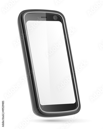 Mobile phone isolated on white. Vector