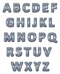 Metallic alphabet.