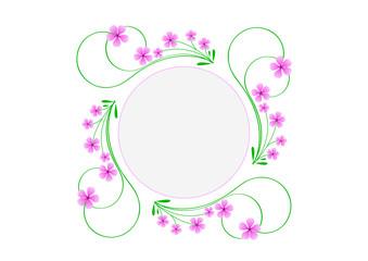 Blason rond printemps - petites fleurs