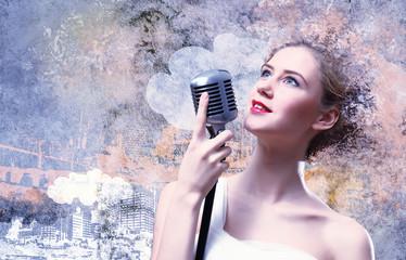 Image of female singer