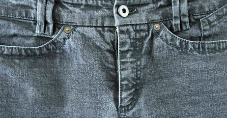 Graue Jeans / Vorderteil / Ausschnitt