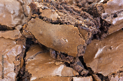 Close view of home made brownies