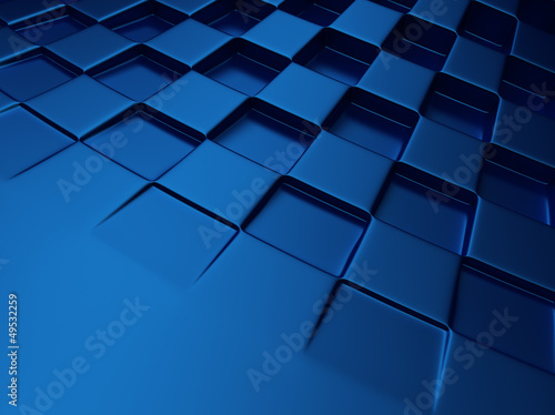 Chess blue metallic background