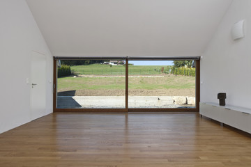 large glass sliding doors in the house
