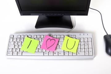 Liebesbotschaft am Arbeitsplatz