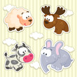 icon animals vector