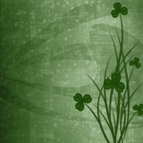 Design for St. Patrick's Day. Flower ornament.