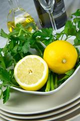 Limone e prezzemolo freschissimo