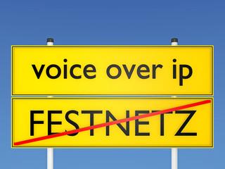 voice over ip vs Festnetz - 3D