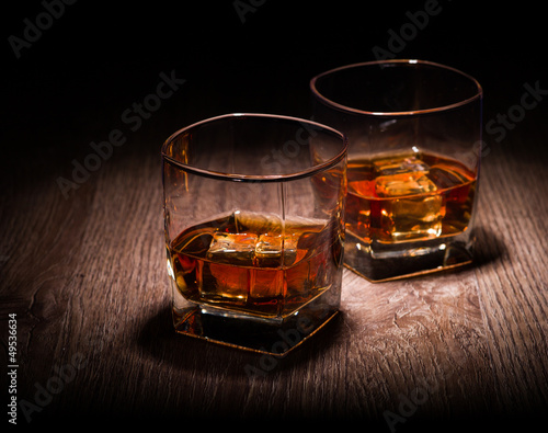 whiskey in glasses
