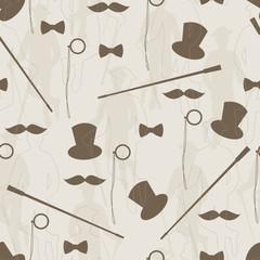 Retro seamless pattern for man.