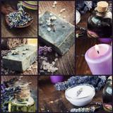 Lavender dayspa collage poster