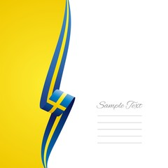 Swedish left side brochure cover vector