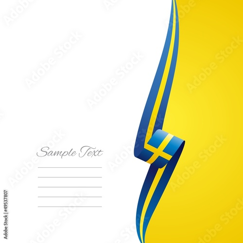 Swedish right side brochure cover vector