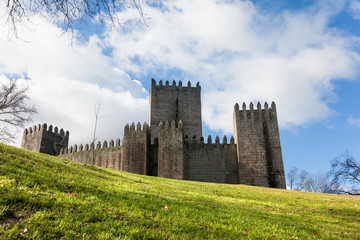 Guimaraes castle and surrounding park, in the north of Portugal.