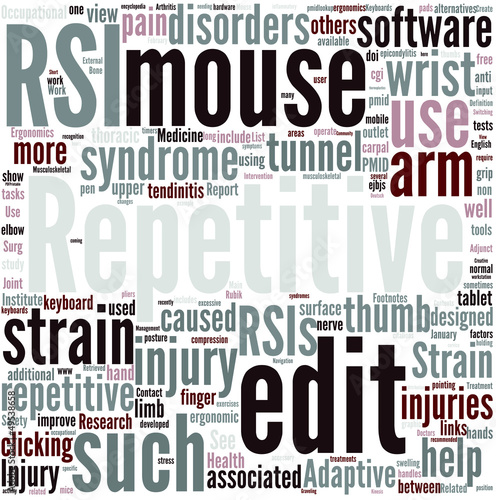 Repetitive strain injury Concept