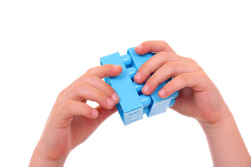 playing with cubes