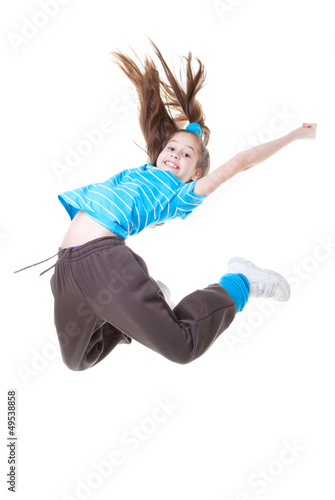child or kid jumping
