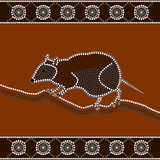 illu. based on aboriginal style of dot painting:musky rat kangar