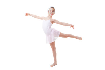 child ballet pose