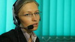 Woman work at Call center, hotline, corporate, office