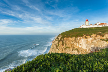 Cabo da Roca, Portugal.  The westernmost point of continental Eu