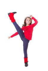 girl modern dancing