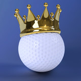 Crowned golf ball
