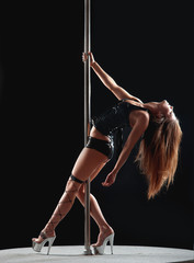 woman pole dancer