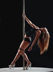 woman pole dancer