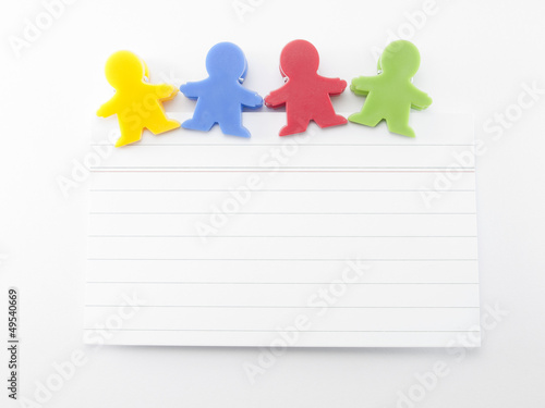 magnets shaped kids colors with note