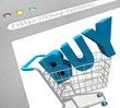 Buy Online - Shopping Cart on Web Screen