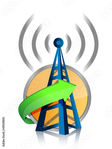 wifi tower connected