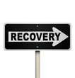 Recovery Arrow Sign One Way Pointing to Get Better Improvement