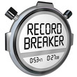 Record Breaker Stopwatch Timer Clock