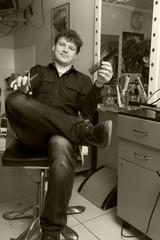 master barber at work
