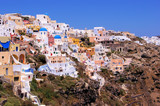 Panoramic view of the village of Oia, Santorini, Greece