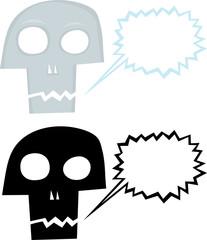 Talking Cartoon Skull