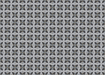 gray abstract seamless pattern made of knots