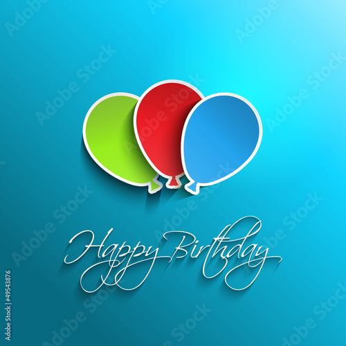 Happy birthday balloon background