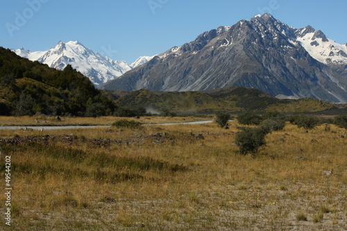 plains in Mount Cook National Park