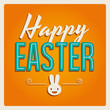 Happy easter cards with easter bunny and font