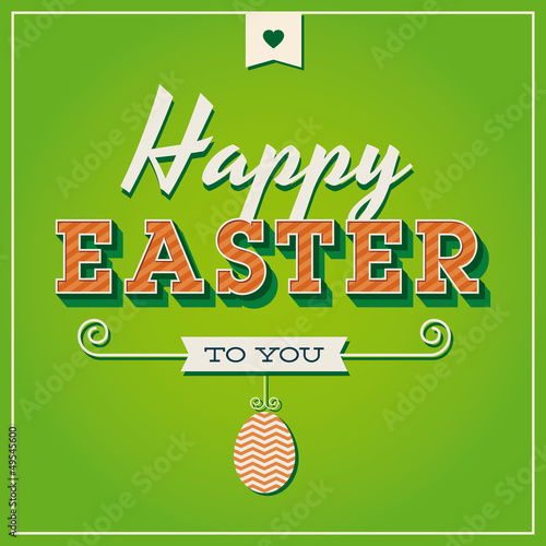 Happy easter cards with easter eggs and font