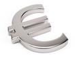 3d Metal euro symbol - 3d render