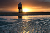 The wooden lighthouse at Burnham-on Sea,England
