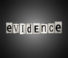 Evidence concept.