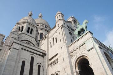 Paris, the Saint Heart Basilica of Montmartre (Sacré Coeur).