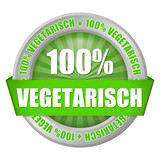 button 100% vegetarisch I