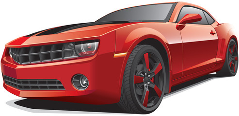 red muscle car