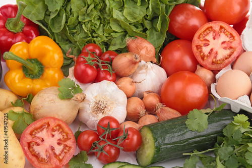 close up on vegetables